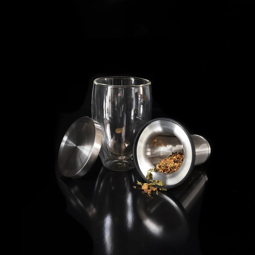 Dubbelwandig glas met filter