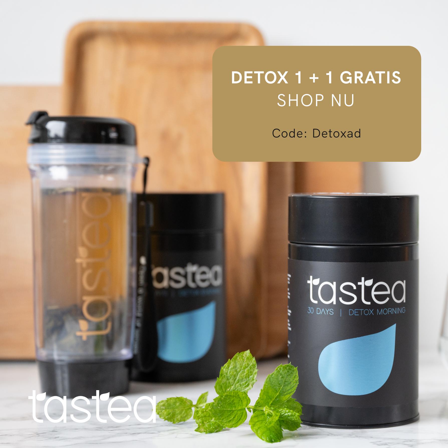 1+1 Gratis op de 30 Day Detox met actiecode: DetoxAD
