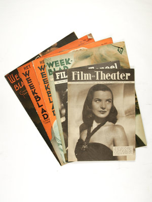 EYE Filmmuseum 6 edities van magazines over film en theater