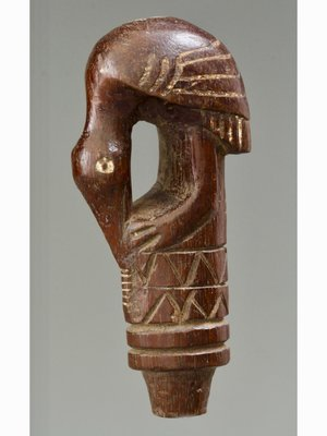 Amsterdam Pipe Museum Carved handle for betel masher or knife.