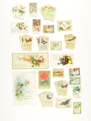 Bijbels Museum Biblical Sunday school stamps butterflies, flora and fauna