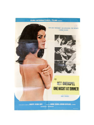 "EYE Filmmuseum Movie poster ""One Night at Dinner"", 1969"
