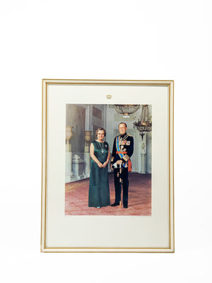 Verhalenwerf Framed photo Queen Juliana and Prince Bernhard