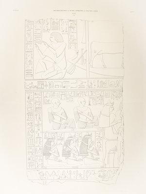 Rijksmuseum van Oudheden Lithograph Ptames' relief
