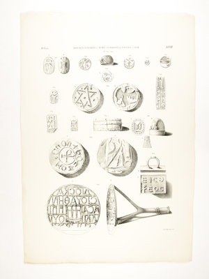 Rijksmuseum van Oudheden Lithograph Egyptian stamps