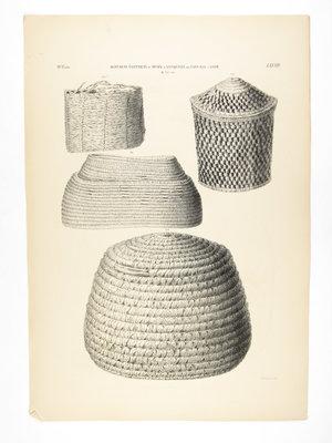 Rijksmuseum van Oudheden Litho Egyptische manden