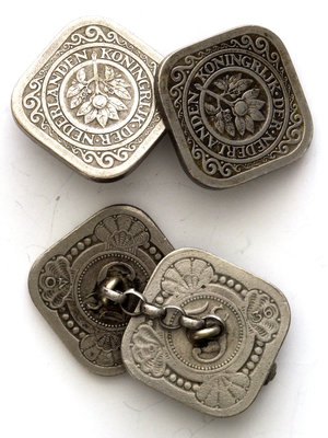 Amsterdam Pipe Museum Cufflinks square nickels