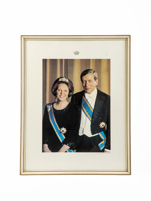 Verhalenwerf State portrait Beatrix and Claus by Max Koot