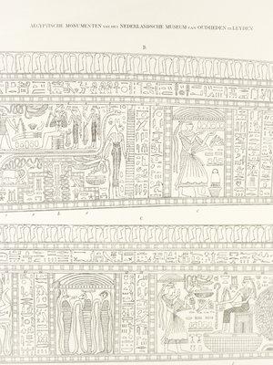 Rijksmuseum van Oudheden Litho binnenkist Amenhotep
