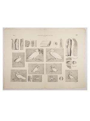 Rijksmuseum van Oudheden Litho van Egyptische gietvormen