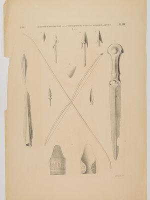 Rijksmuseum van Oudheden Litho Egyptische wapens