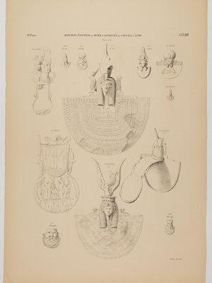Rijksmuseum van Oudheden Litho Egyptische sieraden