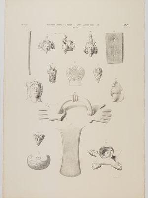 Rijksmuseum van Oudheden Litho Egyptische objecten