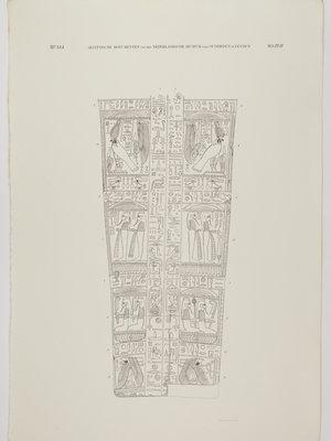 Rijksmuseum van Oudheden Litho plankdeksel Chonsoehotep