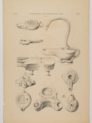 Rijksmuseum van Oudheden Litho Egyptische olielampjes