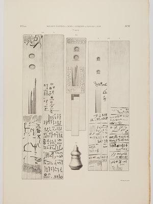 Rijksmuseum van Oudheden Litho Egyptische paletten