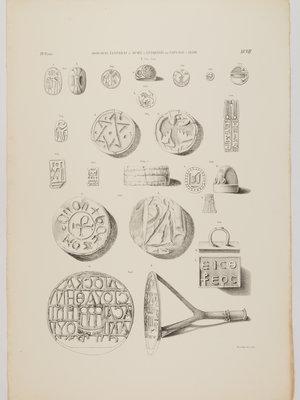 Rijksmuseum van Oudheden Litho Egyptische zegels