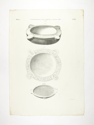 Rijksmuseum van Oudheden Lithograph of Egyptian objects