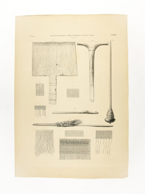 Rijksmuseum van Oudheden Lithograph Egyptian craft tools