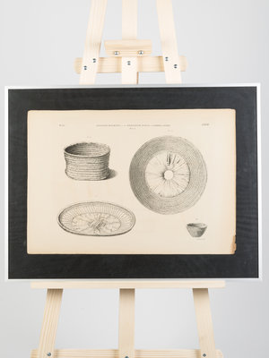 Rijksmuseum van Oudheden Lithograph of Egyptian baskets