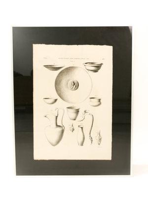 Rijksmuseum van Oudheden Lithograph of Egyptian crockery