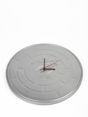 EYE Filmmuseum Wall clock of recycled film can, Simon Marsiglia