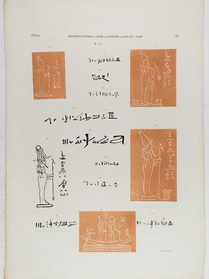 Rijksmuseum van Oudheden Litho van reliëf tekeningen