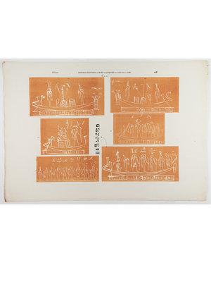 Rijksmuseum van Oudheden Lithograph of relief drawings