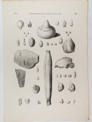 Rijksmuseum van Oudheden Litho Egyptische opgravingen