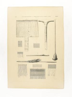 Rijksmuseum van Oudheden Litho Egyptisch handwerkgereedschap