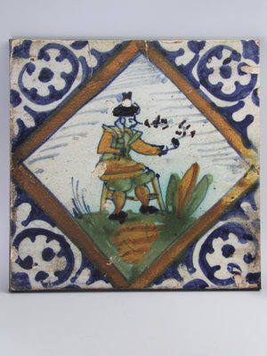 Amsterdam Pipe Museum Photo of a tile on canvas