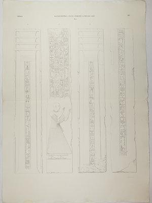 Rijksmuseum van Oudheden Litho pilaren Ptahmes
