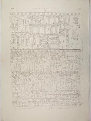 Rijksmuseum van Oudheden Litho Egyptisch reliëf van Merymery