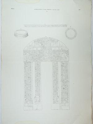 Rijksmuseum van Oudheden Litho deurpost kapel van Oeserhat