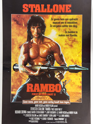 EYE Filmmuseum Movie poster Rambo: First Blood part II (1985) by George P. Cosmatos