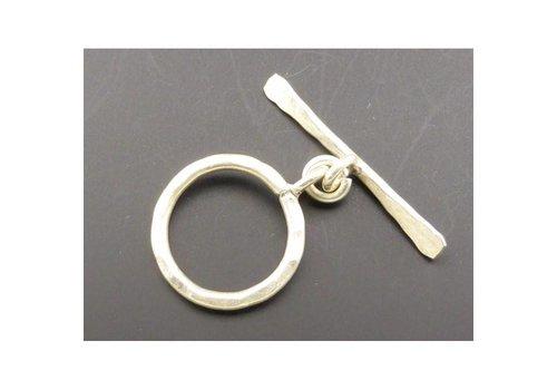 Karabijnslot gemoffeld zilver 22 mm