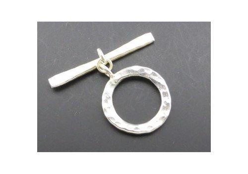 Karabijnslot gemoffeld zilver 17 mm