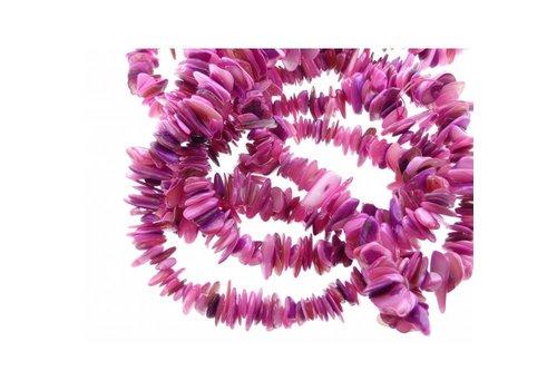 Natuursteen chips roze tinten. Lengte 80 cm