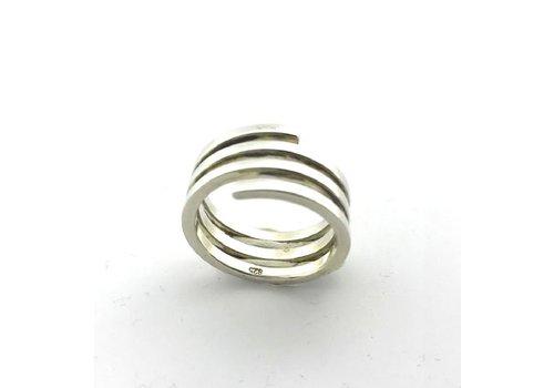 Saraswati Silver Ring,  model PLAT, zilver, Saraswati