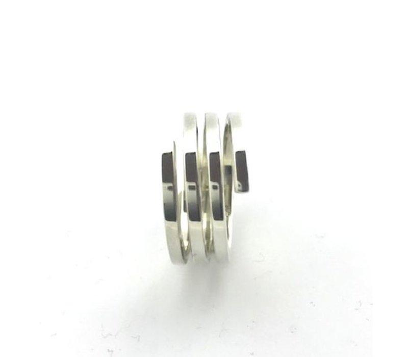 Ring,  model PLAT, zilver, Saraswati