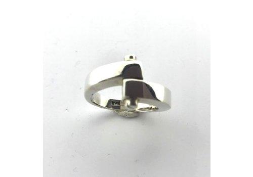 Saraswati Silver Ring, model SCHROEFJE, zilver, Saraswati