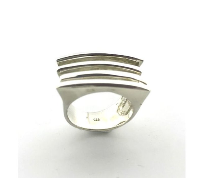 Ring,  model REEPJES, zilver, Saraswati