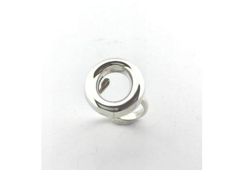 Saraswati Silver Ring, model RONDJE, zilver, Saraswati