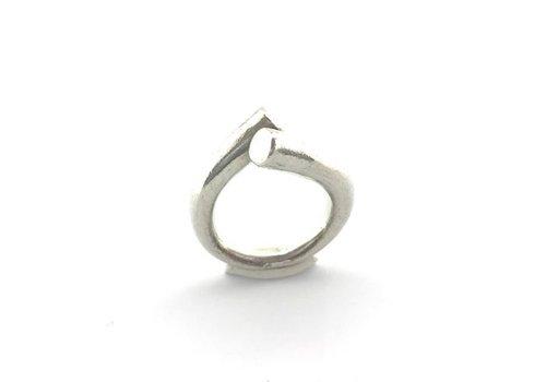 Eigen Collectie Ring, model, TEGEN ELKAAR GEBOGEN, zilver, Eigen Collectie