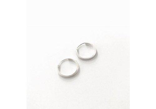 Eigen Collectie Oorbellen, model, CREOLEN KLEIN, doorsnee 2 cm zilver, Eigen Collectie