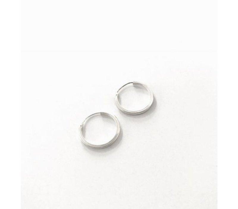 Oorbellen, model, CREOLEN KLEIN, doorsnee 2 cm  zilver, Eigen Collectie