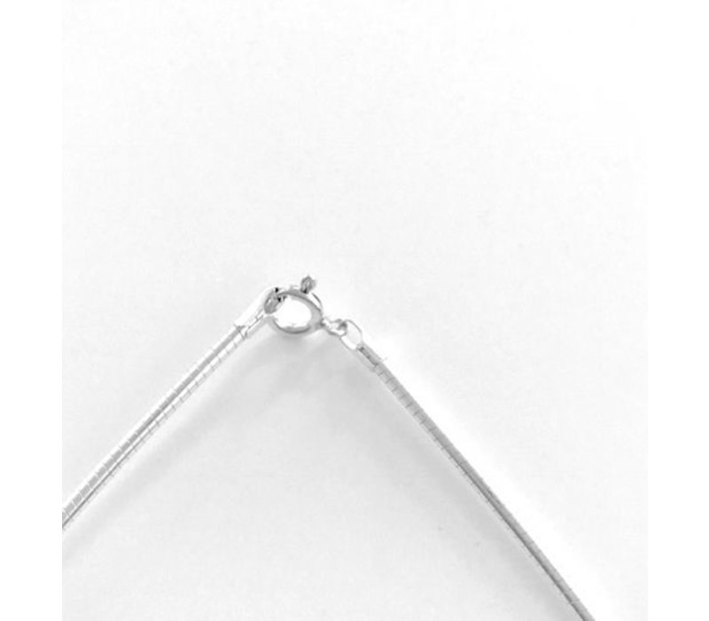 Spang, model MEDIUM van zilver, omhuld, Eigen Collectie