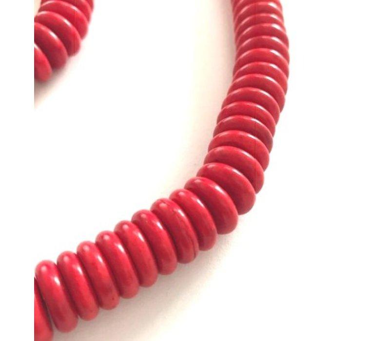 Ketting en armband set, 48  en 20 cm lang, model BAMBOEKORAAL