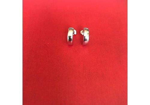 Eigen Collectie Oorbellen, model HALF ROND KLEIN, zilver, Eigen Collectie