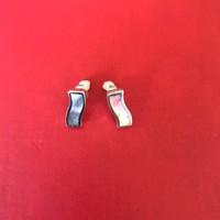 Oorbellen, model SLAG MET PARELMOER, zilver, Eigen Collectie